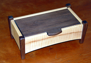 Horseshoe Chestnt, Walnut Legs and Blind Hinges